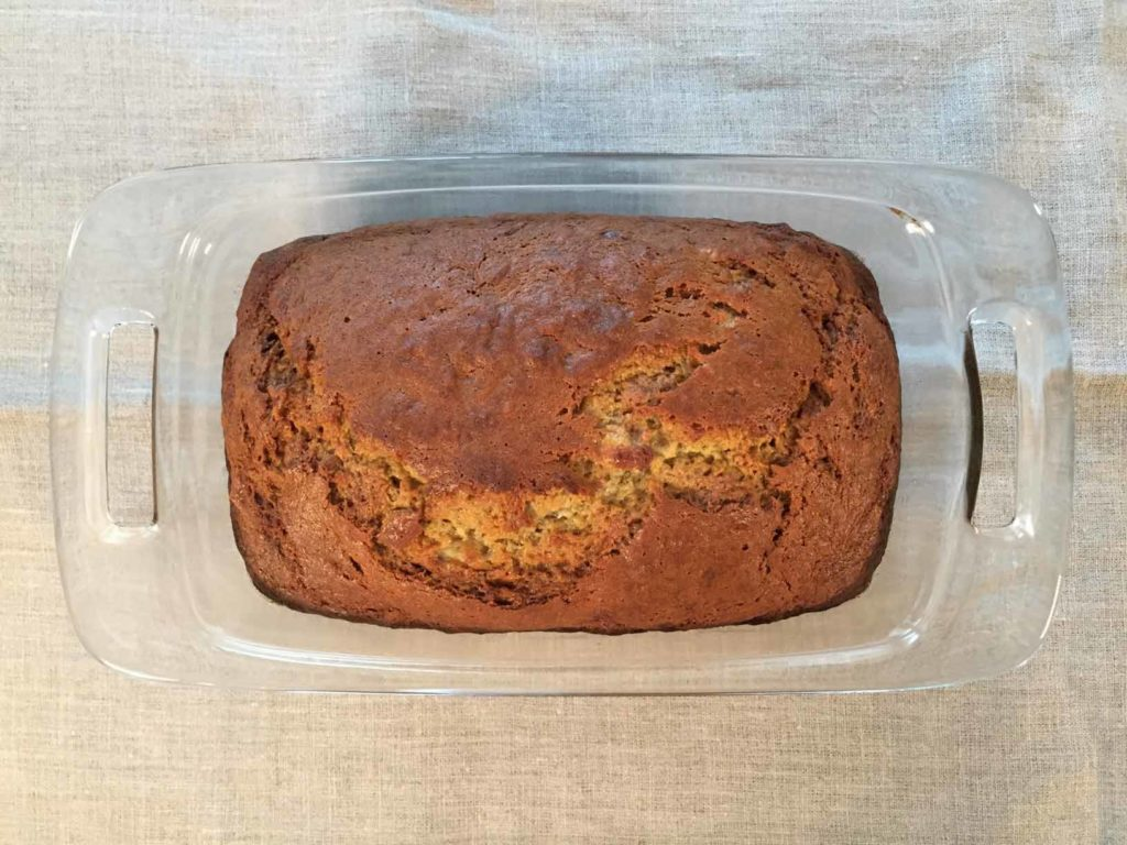 Banana bread fresh baked from the oven