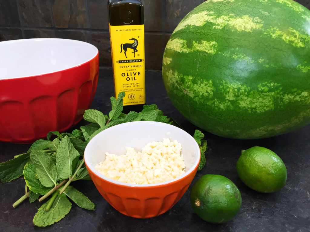 watermelon feta mint salad ingredients
