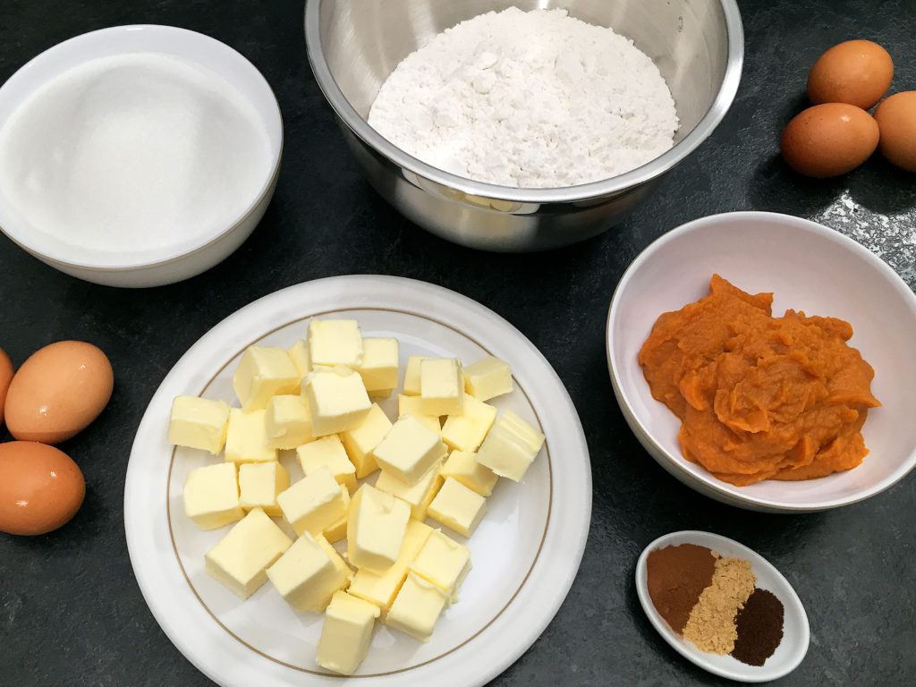 pumpkin spice pound cake ingredients