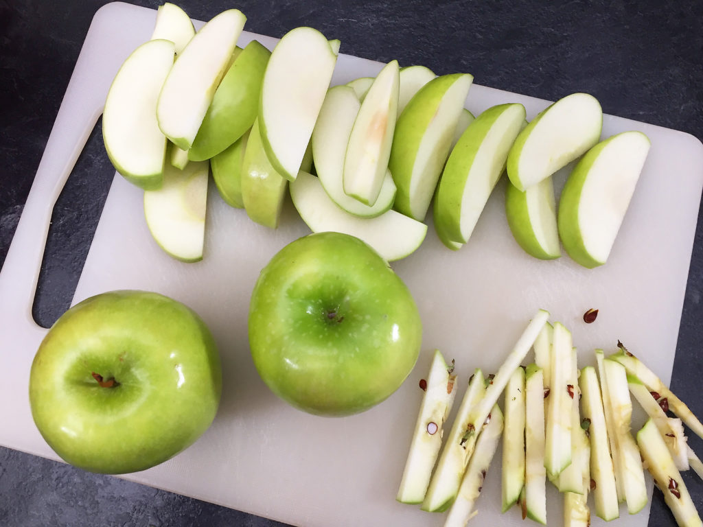 Slicing up apples