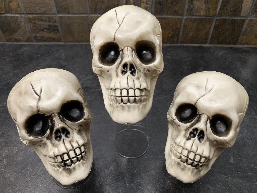 plastic skulls