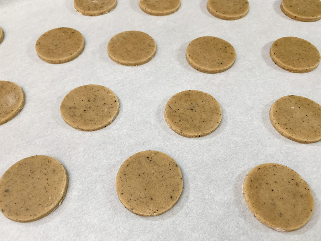 chai tea dough cut into circles