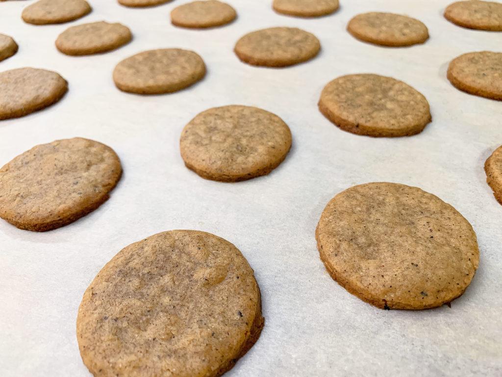 fresh baked chai tea cookies
