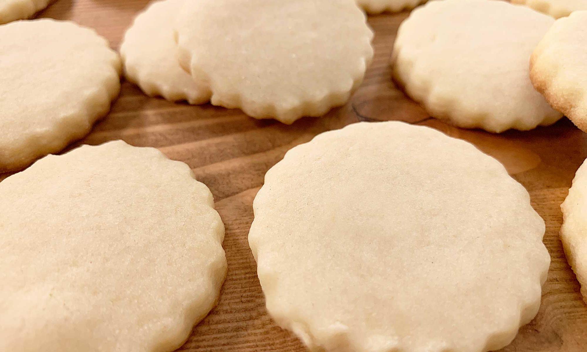 pile of fresh baked shortbread cookies
