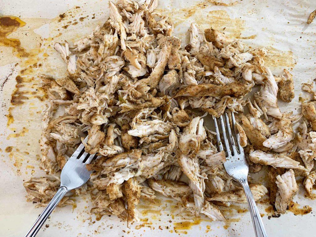 shredded seasoned chicken breast
