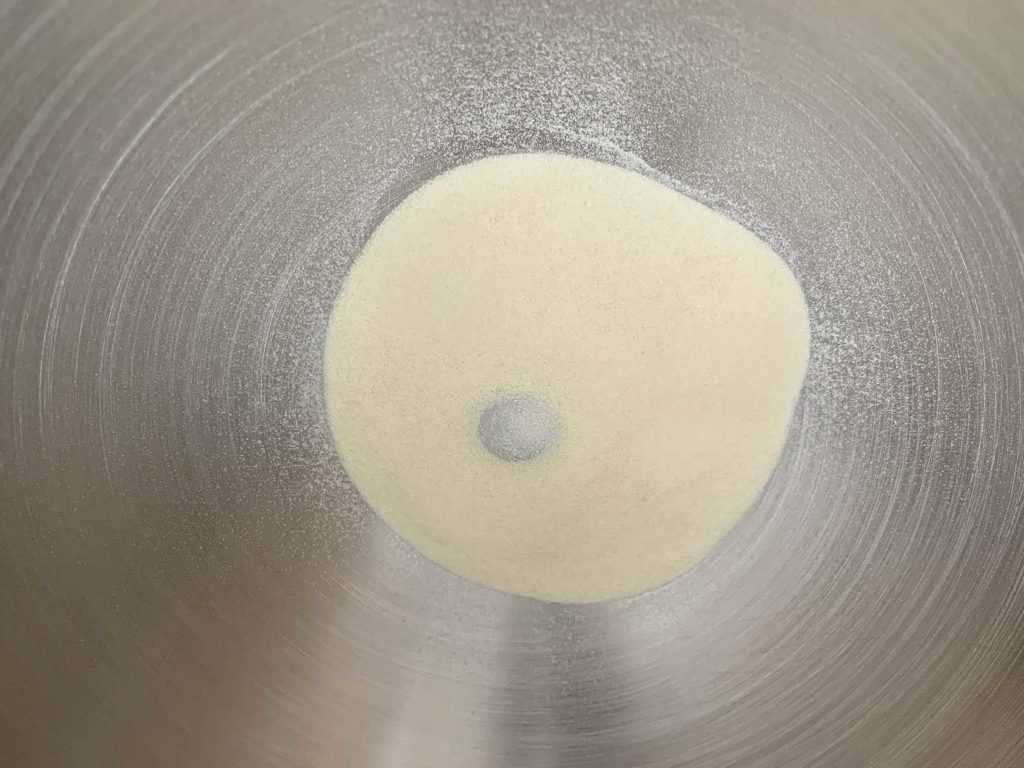Gelatin powder in bowl