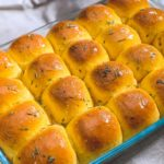 Fresh baked rosemary sea salt sweet potato rolls