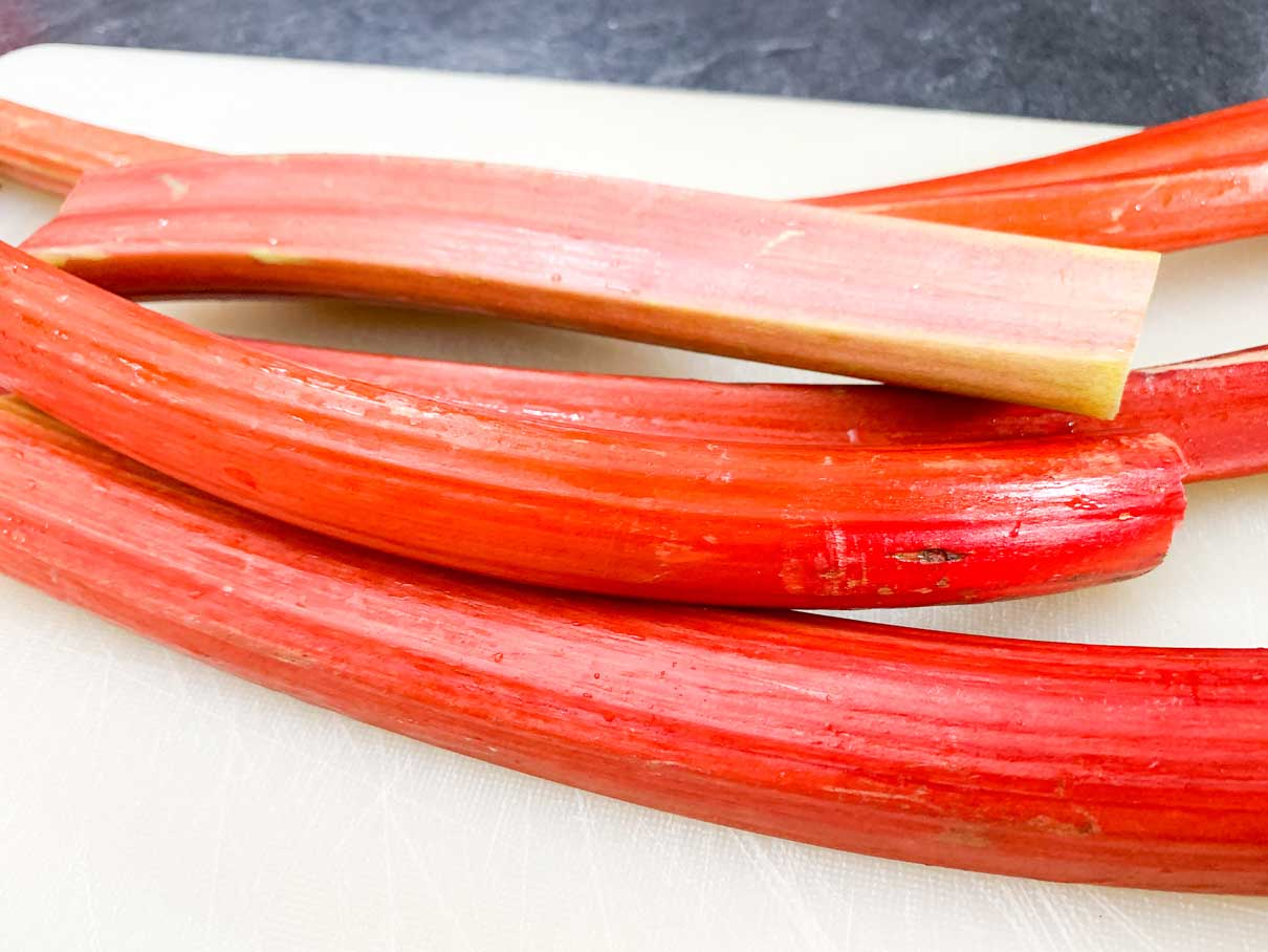 long rhubarb stalks