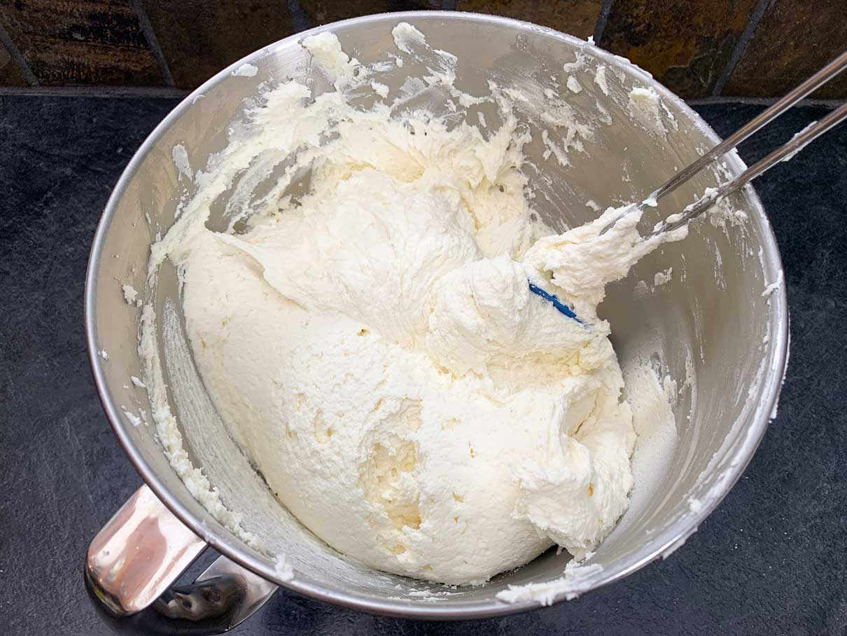 buttercream frosting in a bowl