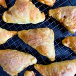 fresh baked apple turnovers, cooling on a wire rack