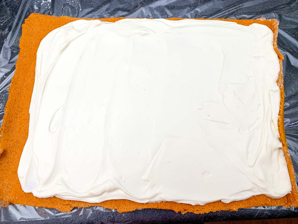 the filling, spread evenly across the cooled cake