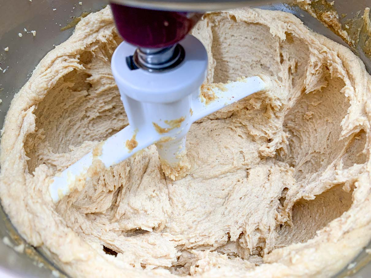 Cream cheese, peanut butter and sugar beaten together until fluffy